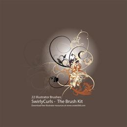 Swirly Curls Sick Brush Kit 2