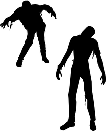 Free Vector Zombies O Halloween