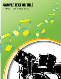 Vetor de tambor fino 04