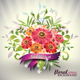 Beautiful Bouquet 01 Vector