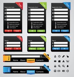 Elementos de página útiles 02 Vector