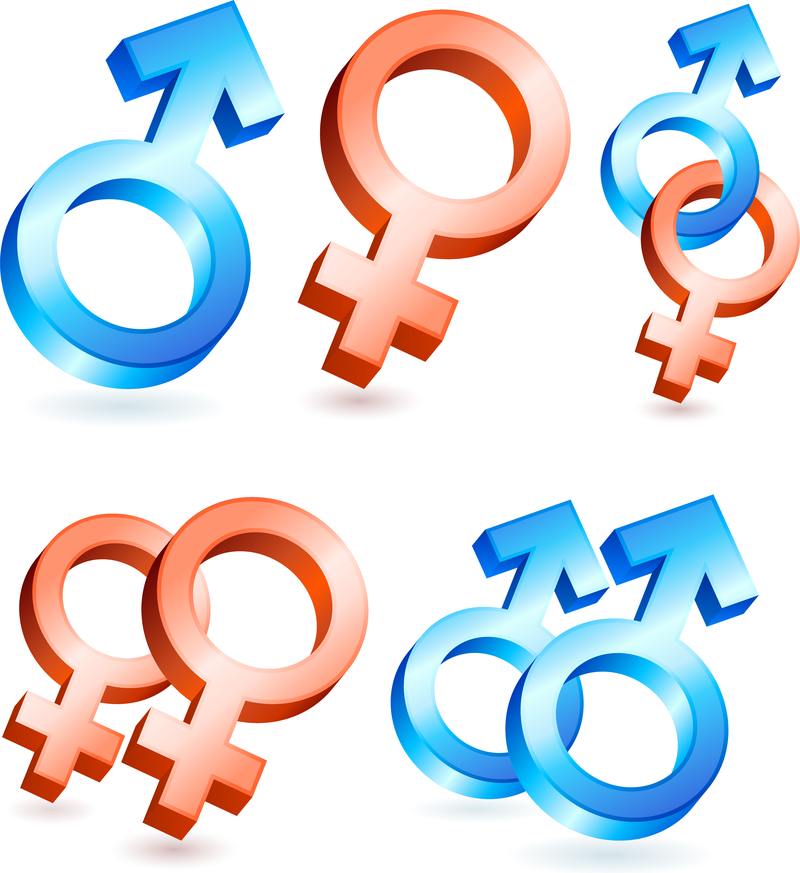 Male And Female Symbols Vector Vector Download