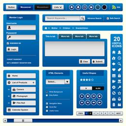 Elementos de diseño web Vector 4