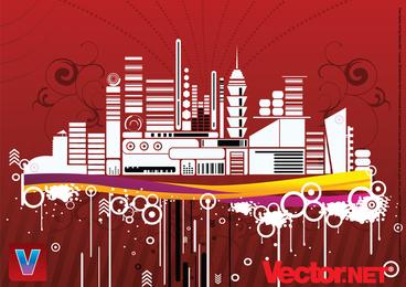 Städtische Stadt-Vektor-Illustration