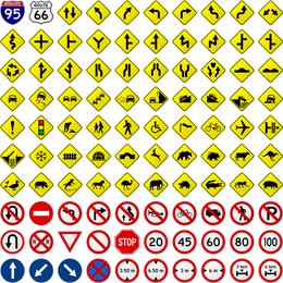 Vetor de identificação prática de rodovia