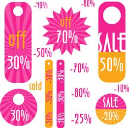 Simple Discount Sales Tag Vector