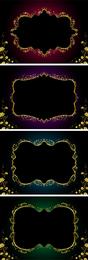 Set of 4 gold lace frames
