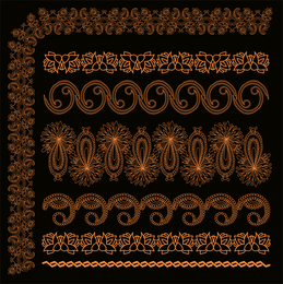 Orange Lace Vector 1