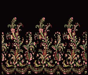 Bouquet de estilo nacional vector de encaje