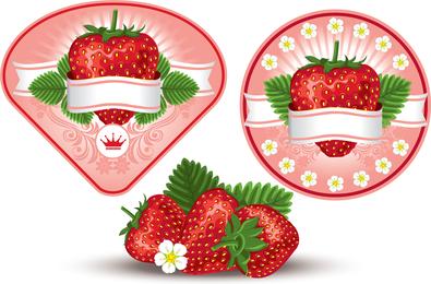 Vector de tema de fresa