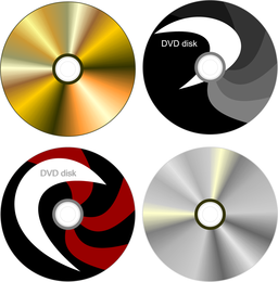 CDs cover template set