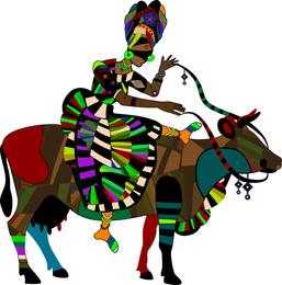 Exquisita pintura decorativa serie dos vector de estilo étnico