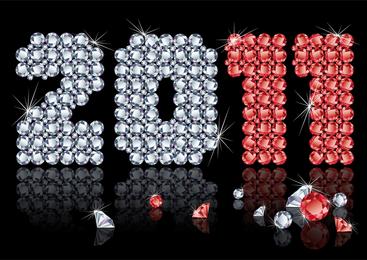 Vector Diamond Consisting Of 2011