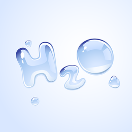 H2o Shape Of Water Droplets Vector