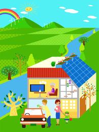 Kinder Umwelt Vektor 5