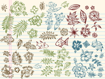 A Collection Of Handdrawn Element Vector 2