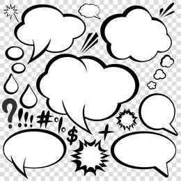 Vetor de estilo de diálogo em quadrinhos 03