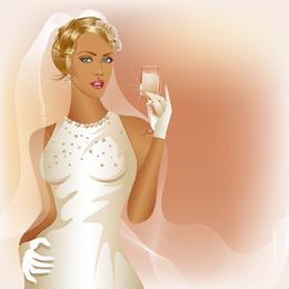 Encanto de la novia boda elementos 05 Vector