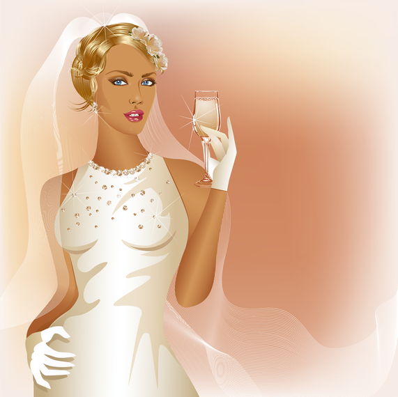 Charm Of The Bride Wedding Elements 05 Vector