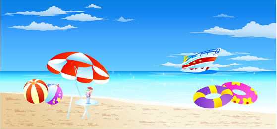 Beach scenary vector