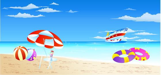 Vector de playa scenary