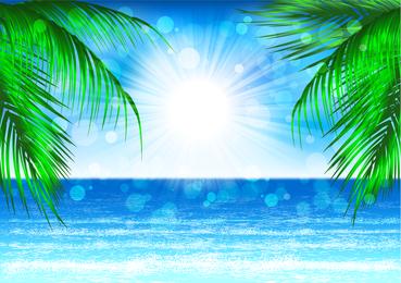 Belo cenário de paisagem costeira