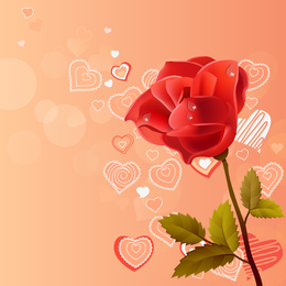 Rosas rosas rosas rojas vectoriales