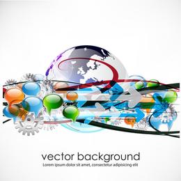 Concepto de negocio diálogo Vector de tendencia 4