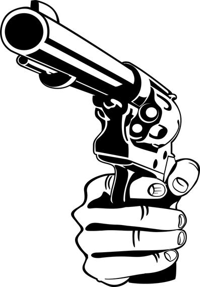 Trust image with gun stencils printable