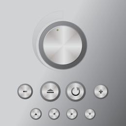 Botão de Volume de Prata 02 Vector