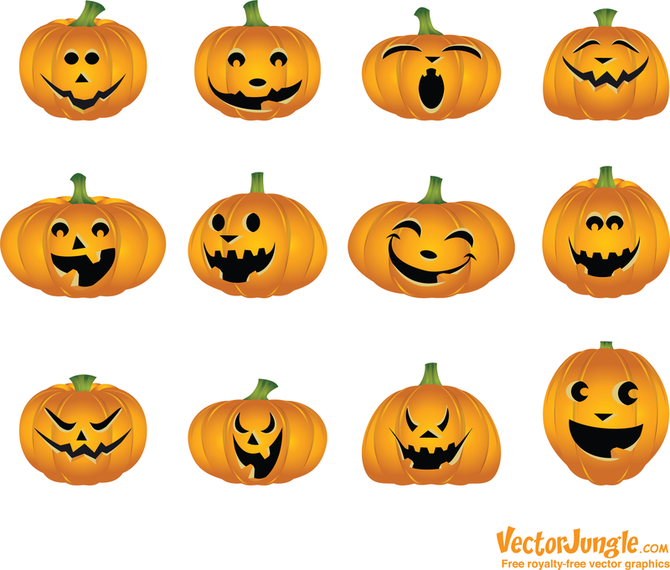 Calabazas de Halloween Vector 2 - Descargar vector