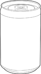 Vector de latas vacias