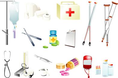 Vector de suministros medicos