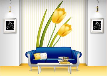 3D indoor decoration idea