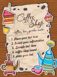 Café encantador vector