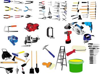 Vetor de ferramenta comumente usado de vida