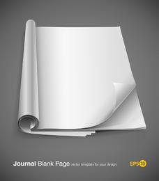 Vector de cuaderno fino en blanco