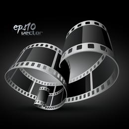B&W film strip background design