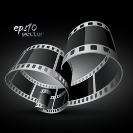 B&W film strip background design