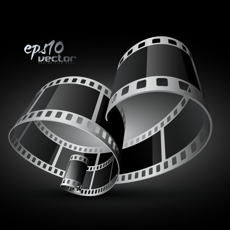 Bw Film Strip Background Design Vector Download