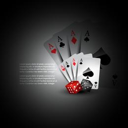 Jogando cartas e dados vetoriais