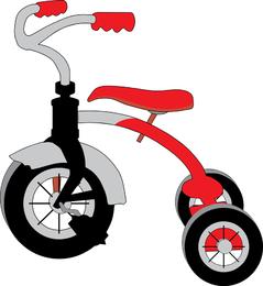 Gráficos vectoriales de triciclo