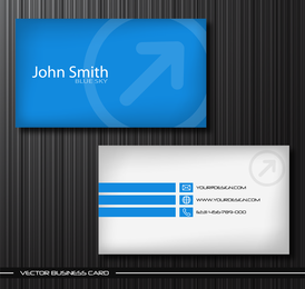 Blue sky business card template