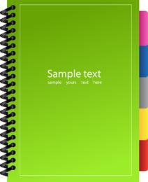 Green Notebook Vector