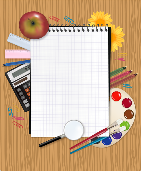 Study Stationery 03 Vector - Vector download