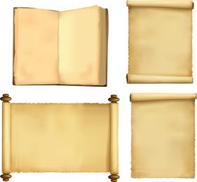 Versión nostálgica clásica del vector de rollos de papel