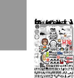 Affe-Vektor-Icons-Kit
