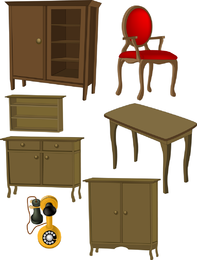 A Variety Of Furniture Furniture Clip Art