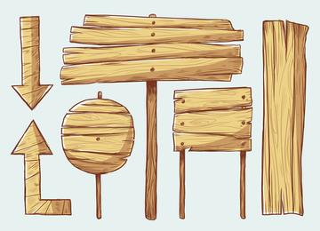 Handpainted Wooden Style Vector