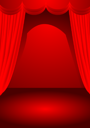 Theater Stage Theme Vector